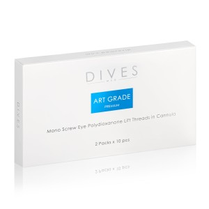 DIVES med.- Art Grade PREMIUM -  Mono Eye Screw Canulla 2x10szt.
